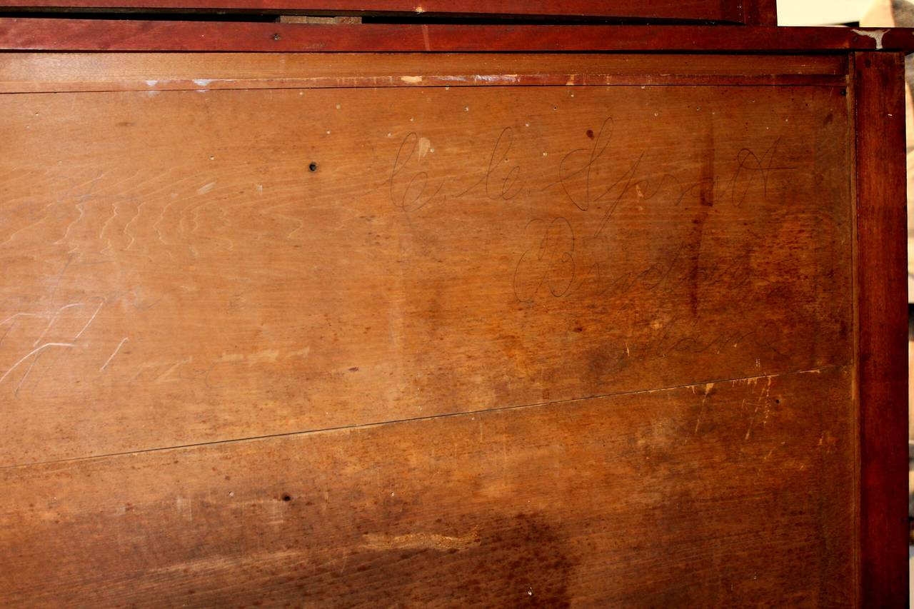 Early 19th Century Red Painted and Bird's-Eye Maple Chest of Drawers from Maine 10