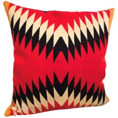 Fantastic 19thc Navajo  Indian German Town Weaving Pillow