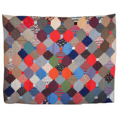 Fantastic Mini Pieced Postage Stamp Quilt From
