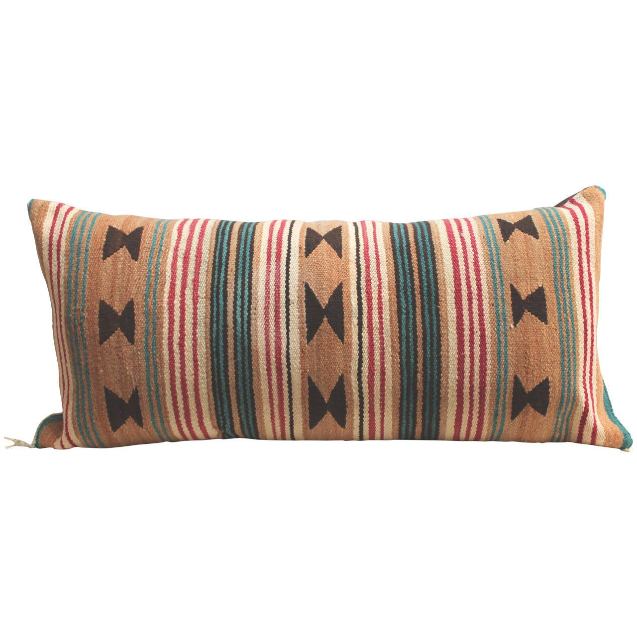 Early Navajo Weaving Saddle Blanket Bolster At 1stdibs