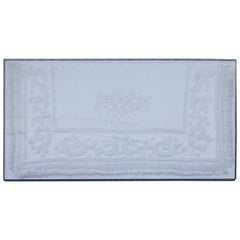 Early 19th Century Trapunto & Candlewick Fringed Sham in Plexy Frame