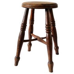 19th Century English Walnut Stool