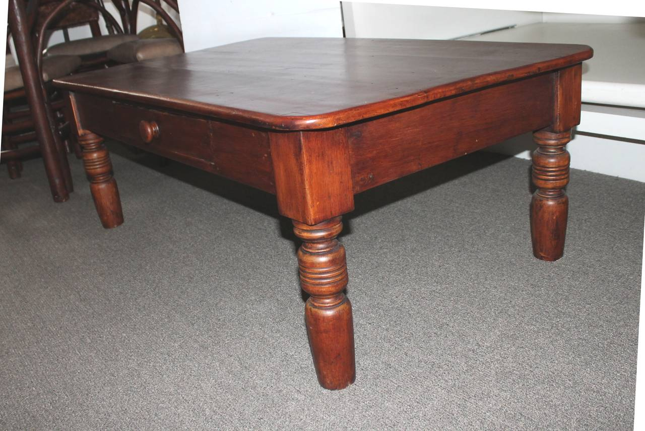 19th Century Farm Table or Coffee Table from Pennsylvania