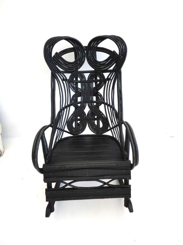 Original white painted bentwood rocking chair is no longer available - Original Black Painted Bentwood Rocking Chair 2