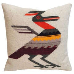 Navajo Indian Weaving Road Runner Pillow