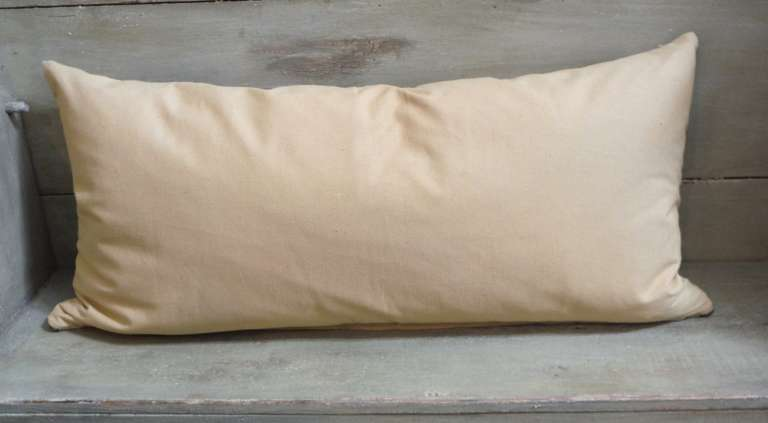 Large Navajo Indian Weaving Bolster Pillow In Excellent Condition For Sale In Los Angeles, CA
