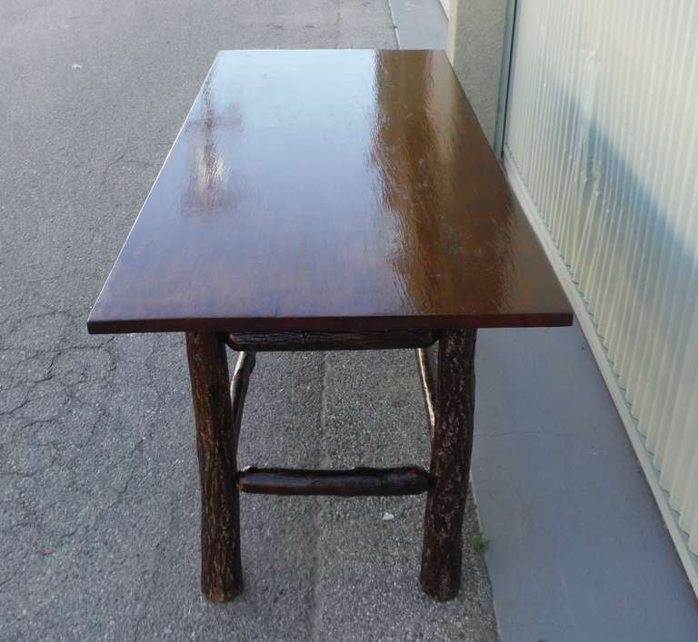 This Rare Large Signed Old Hickory Rustic Dining Table Is No Longer