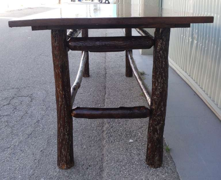 Rare Large Signed Old Hickory Rustic Dining Table At 1stdibs
