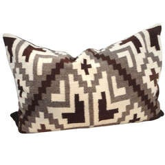 Navajo Indian Weaving Bolster Pillow lll
