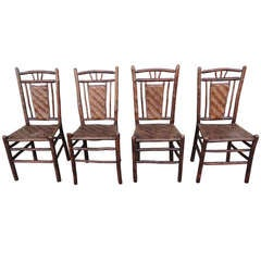fantastic signed old hickory side chair at 1stdibs Twig Art Sculptures Willow Twig Chairs