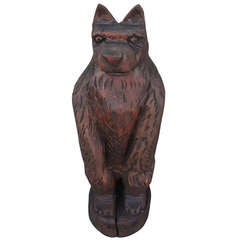 Hand Carved Folk Art  Bear on   From Maine