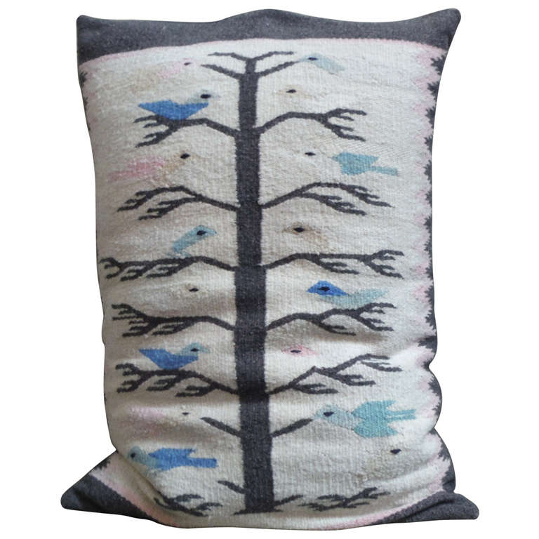 Mexican Indian Tree of Life Bolster Pillow