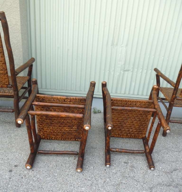 Set of eight matching signed old hickory dining chairs at for Matching dining room furniture
