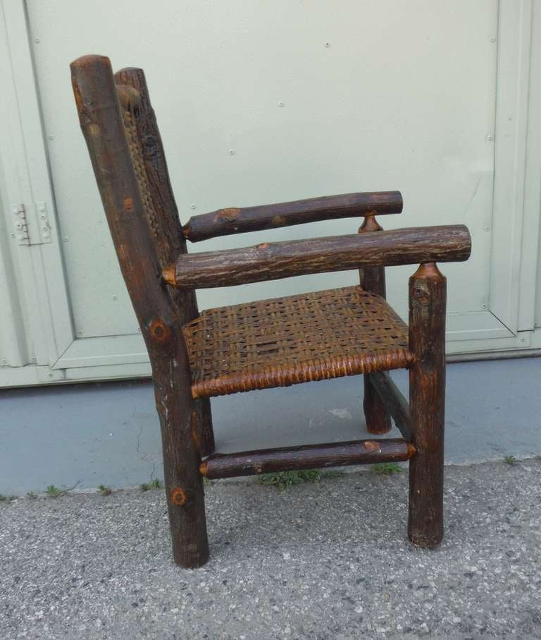 Signed Old Hickory Child s Arm Chair at 1stdibs