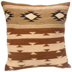Navajo Indian Chinle Woven Squash Blossom Pillow