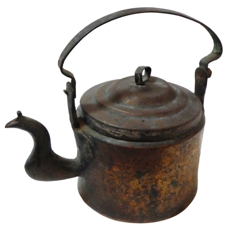 18Thc Hand Made Copper Coffee Pot From New England 1