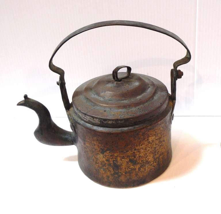 18Thc Hand Made Copper Coffee Pot From New England 2