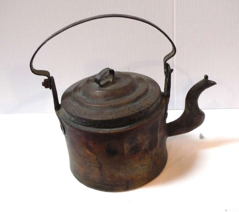 18Thc Hand Made Copper Coffee Pot From New England 4