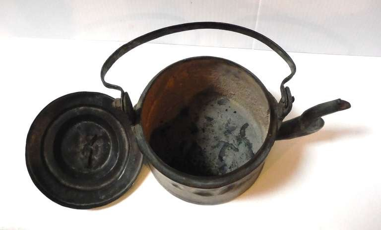 18Thc Hand Made Copper Coffee Pot From New England 5