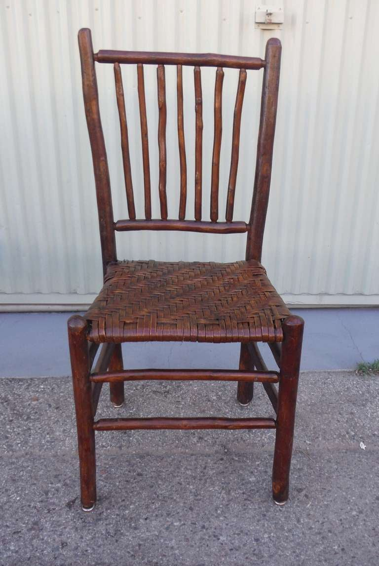 Set Of Six Signed Old Hickory Spindle Chairs At 1stdibs