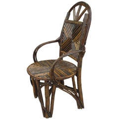 Tall Rustic Twig Side Chair From The Mid West