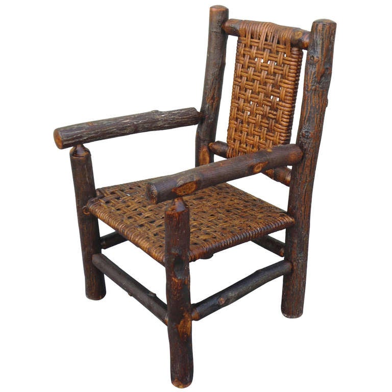 Signed Old Hickory Childs Arm Chair at 1stdibs