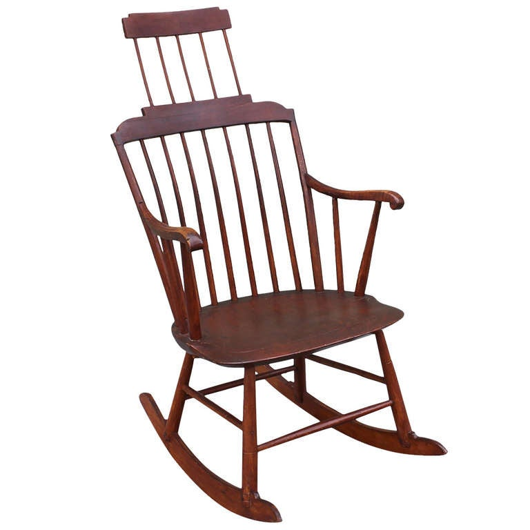 19th Century Comb Back Windsor Rocker For Sale