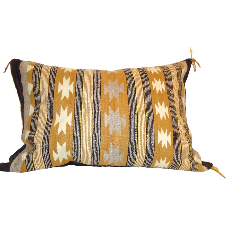 Large Decorative Bolster Pillows : LARGE NAVAJO/INDIAN WEAVING BOLSTER PILLOW at 1stdibs