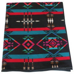 Pendleton Indian Design Camp Blanket/Black Ground