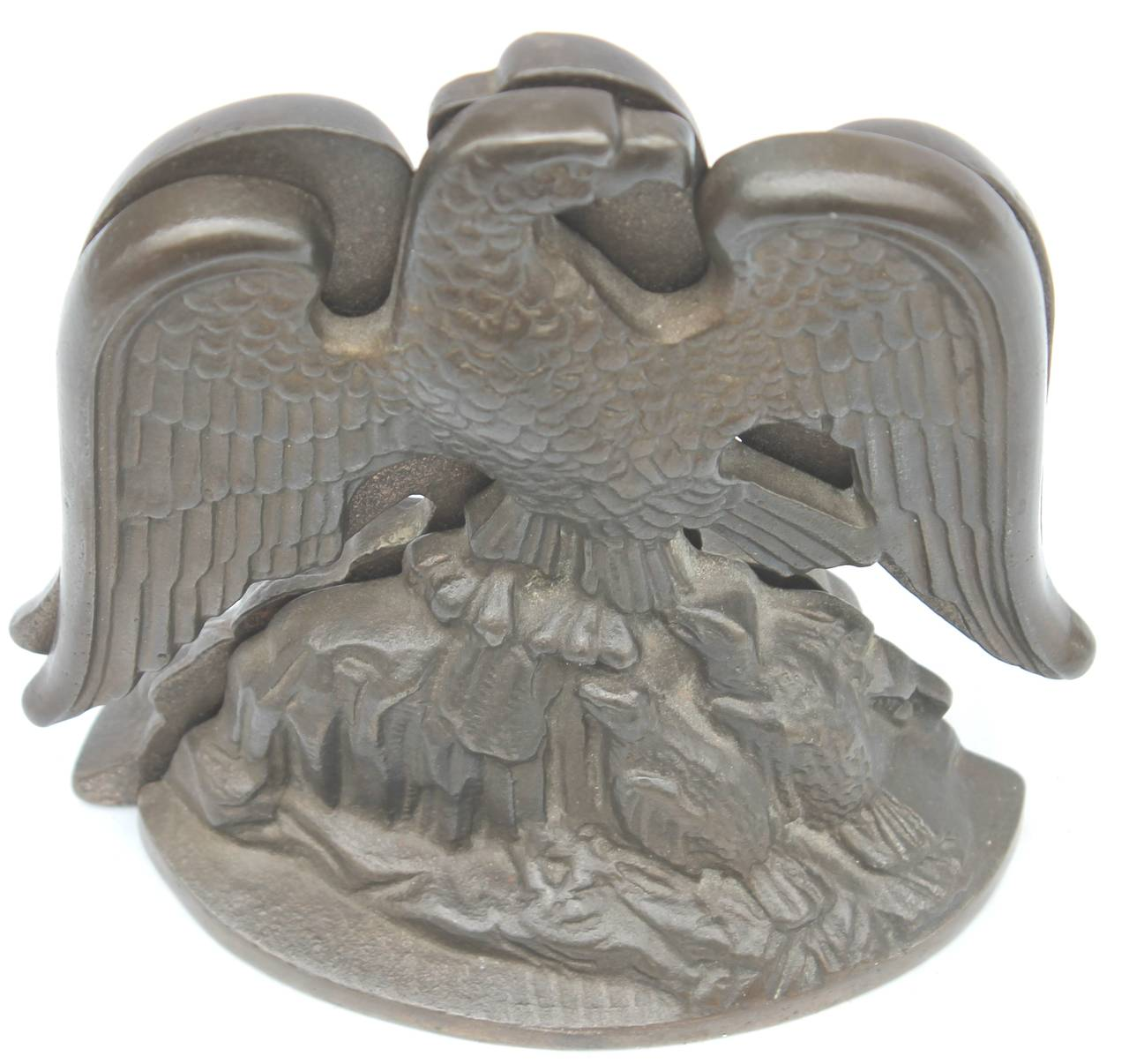 Bronze Eagle Bookends Signed and Dated, 1931 For Sale 2