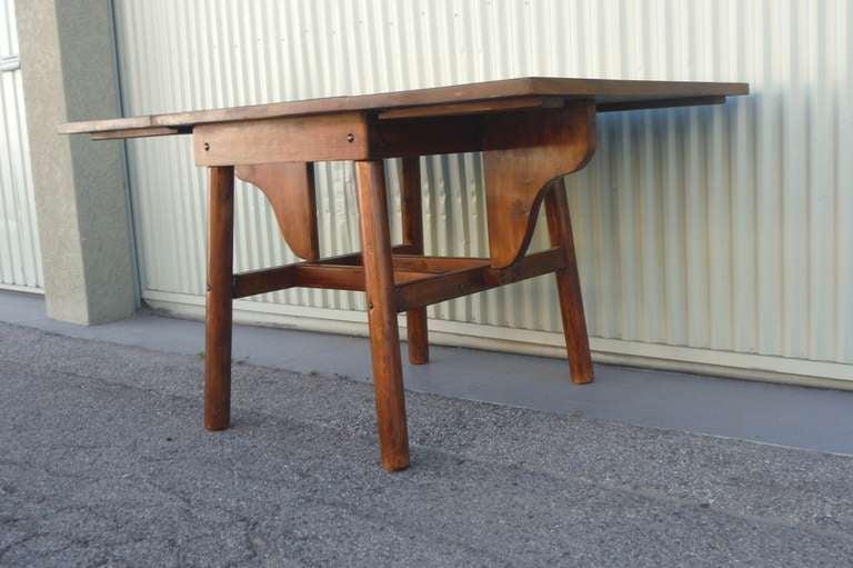 Signed Rittenhouse Furniture Rustic Drop Leaf Dining Table  : 004l from www.1stdibs.com size 768 x 511 jpeg 47kB