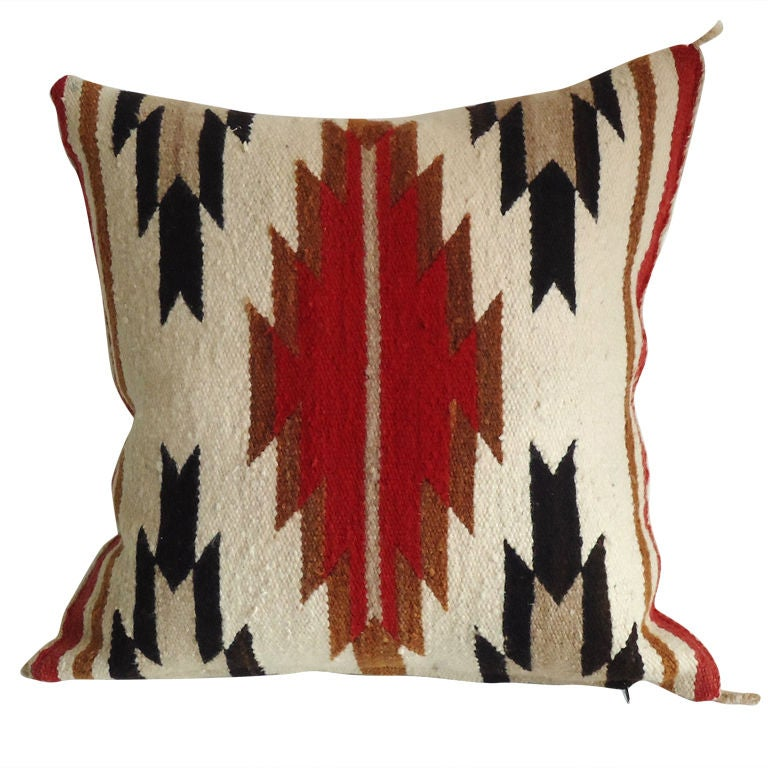 Vintage Southwestern Pillow : Navajo Weaving Pillow /great Colors and Design at 1stdibs