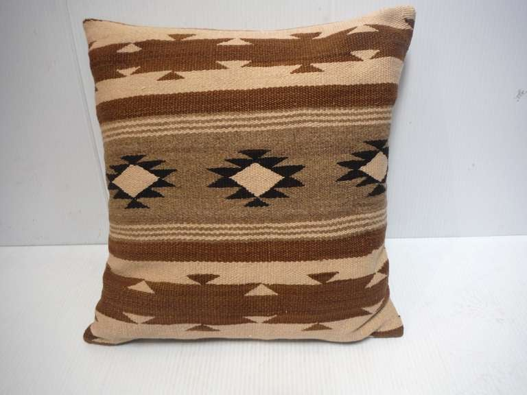 Early Navajo Indian Weaving Pillow 2