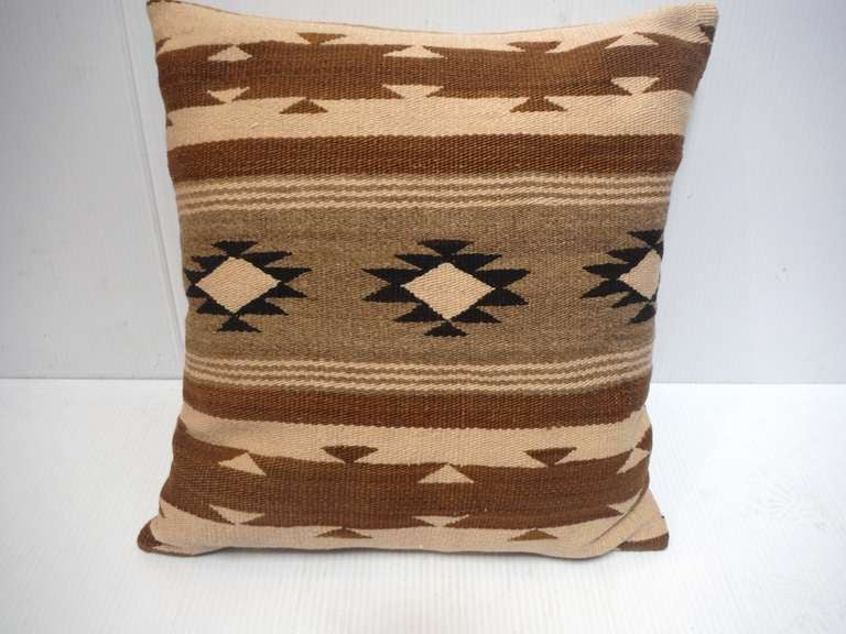 Early Navajo Indian Weaving Pillow 3