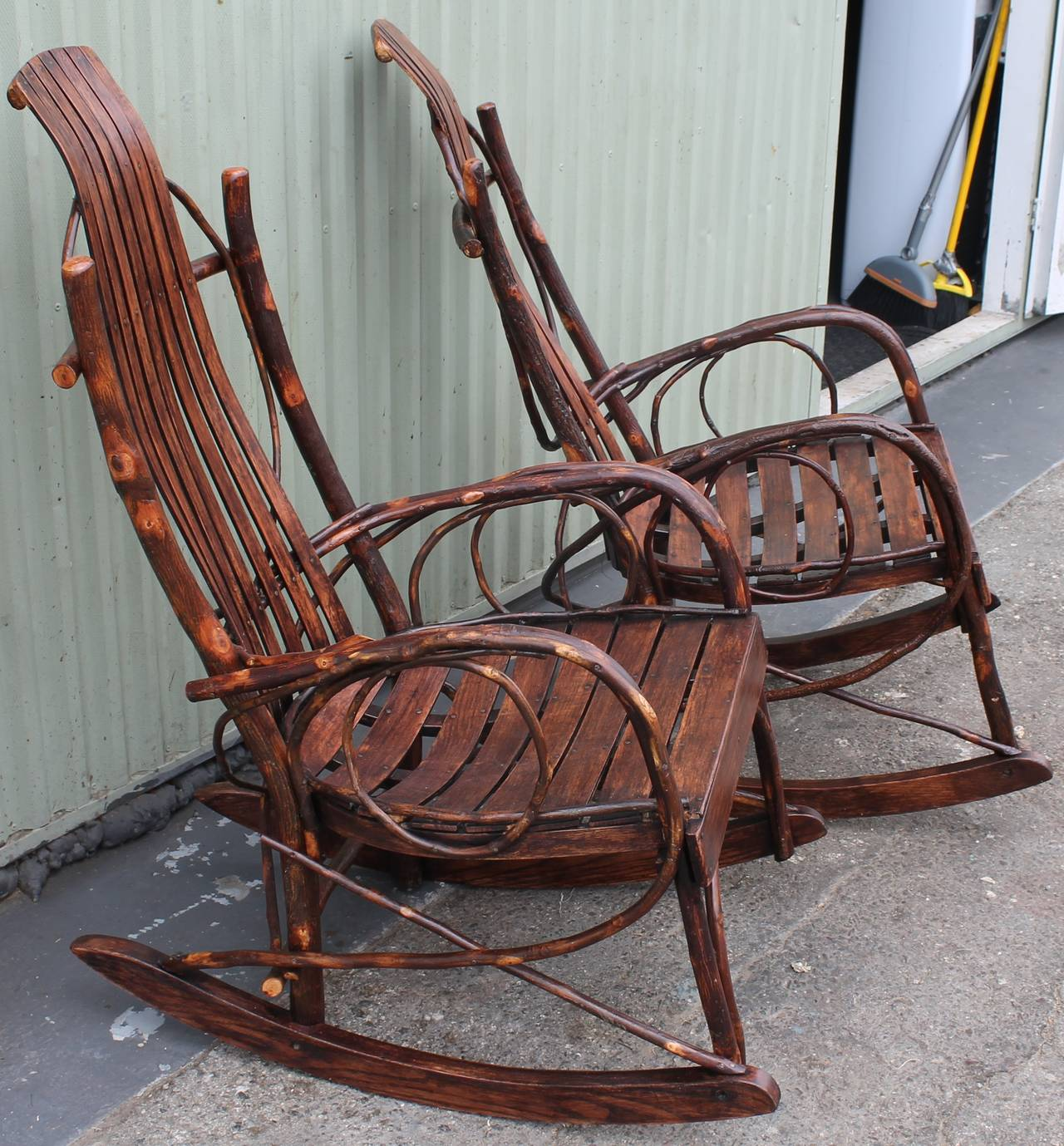 ... Pair of Matching Amish Bentwood Rocking Chairs is no longer available