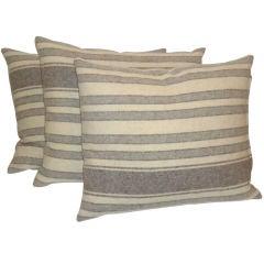 Wool Saddle Blanket Pillows W/linen Back
