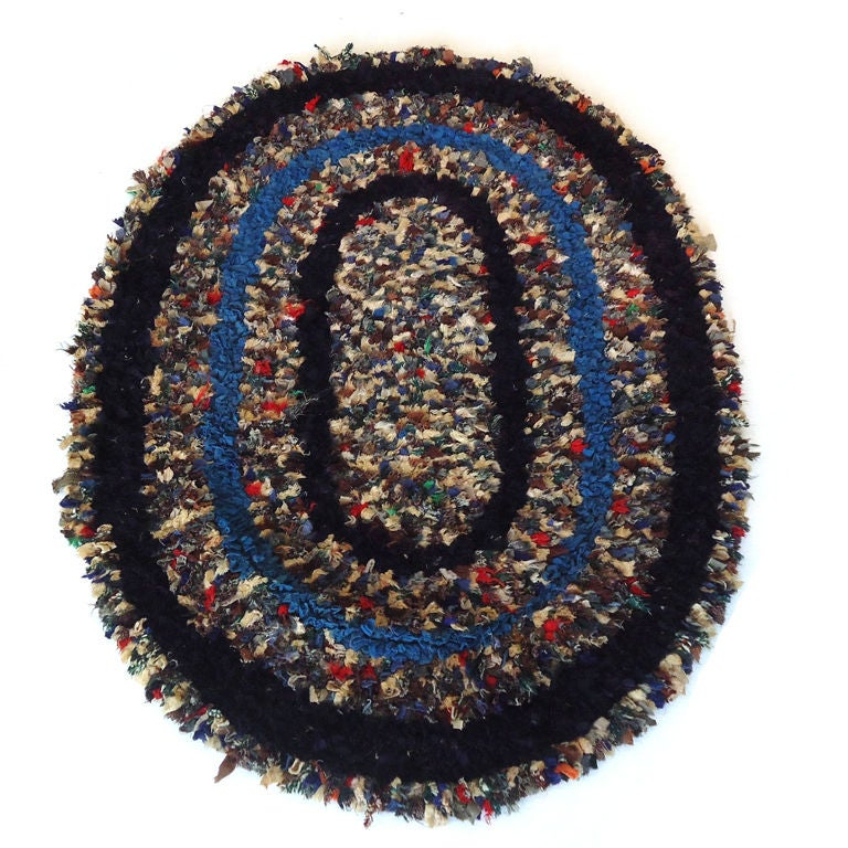 Early 20thc Shaker Style Sheered Rug From New England For