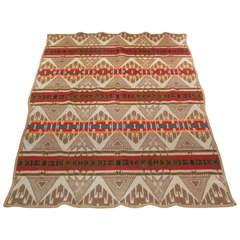 Early Wool Pendleton Cayuse Indian Design Camp  Blanket