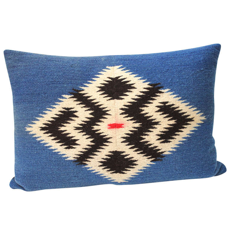 Navajo Indian Weaving Geometric Bolster Pillow At 1stdibs