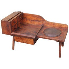 Early 19th Century Folky Cobblers Bench from Pennsylvania