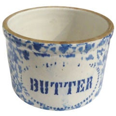 19thc Oversize Butter Crock From Pennsylvania