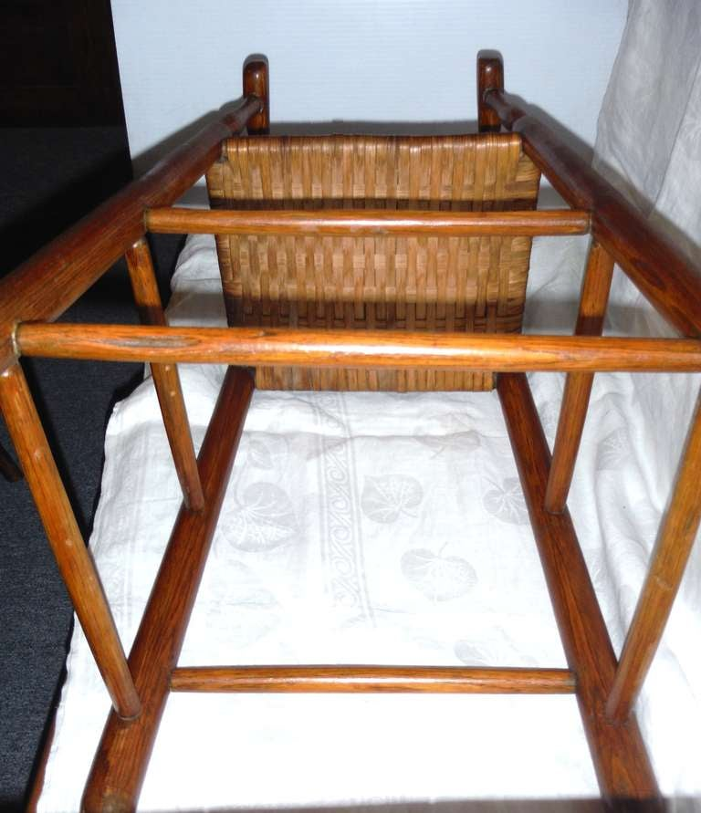 Fantastic 19th Century Childs Ladderback Height Chair from New England For Sale 2