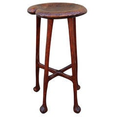 Amazing Signed Matthew Witkop Funky Hand-Carved Stool