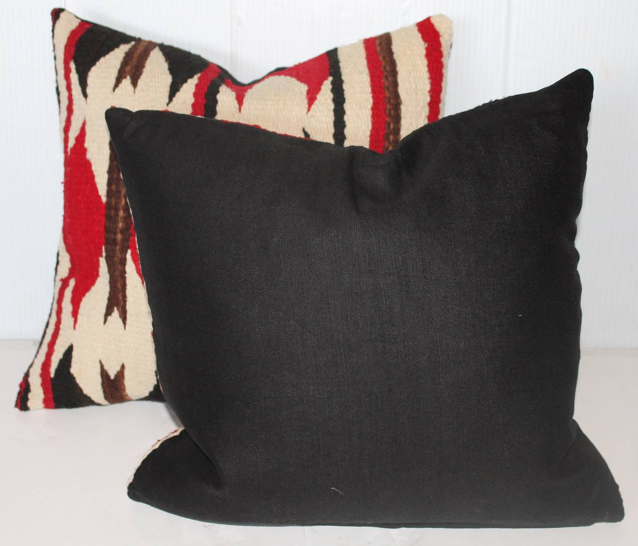 Pair Of Navajo Indian Weaving Geometric Pillows At 1stdibs