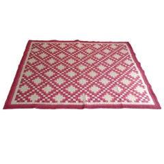 Wonderful Rasberry & Pink Triple Irish Chain Quilt