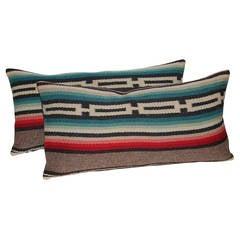 Pair of Mexican Serape Pillows
