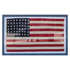Monumental 48 Star Ships Flag in Custom Frame