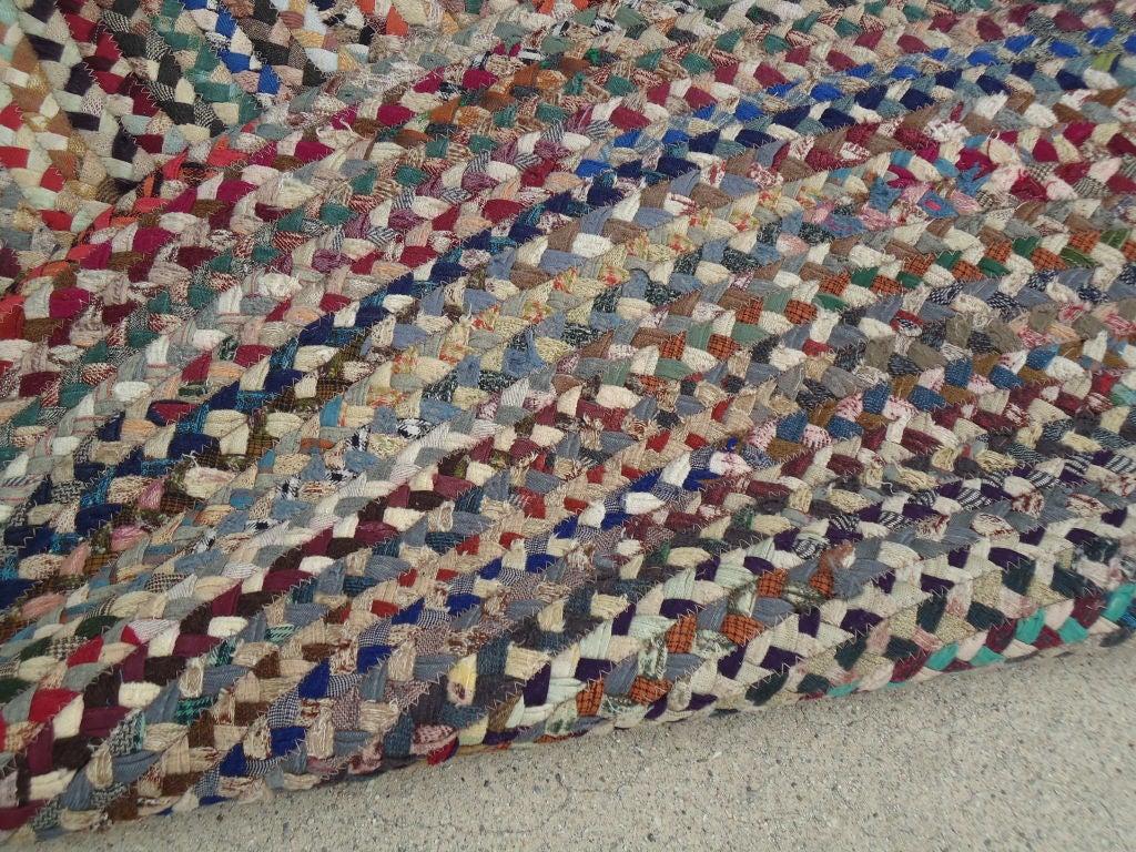 Fantastic Oval Large Multi Colored Wool Braided Rug At 1stdibs