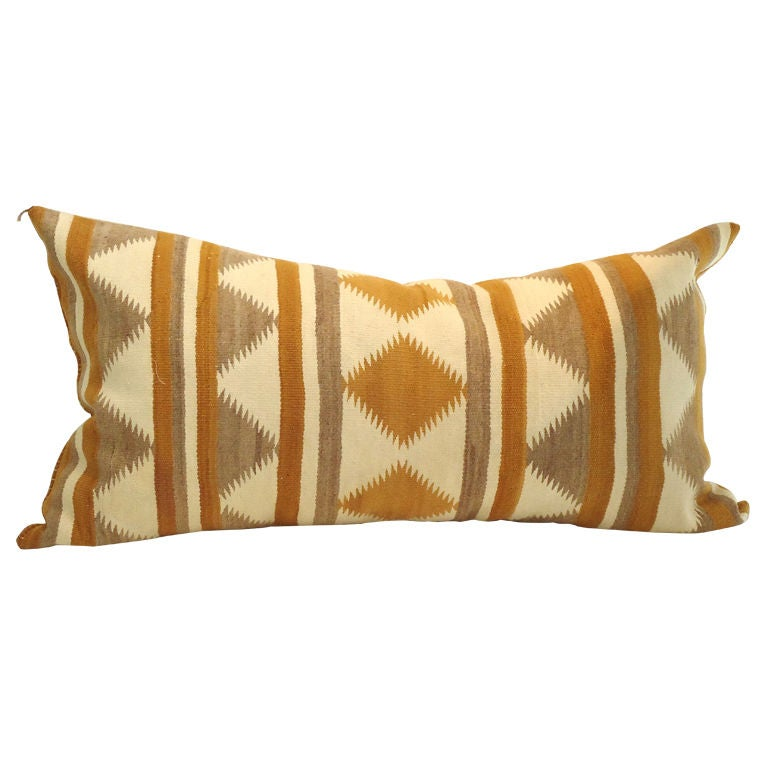 Large Bolster Navajo Indian Weaving Pillow/great Colors at 1stdibs
