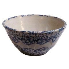 Large 19th Century Design Spongeware Mixing Bowl